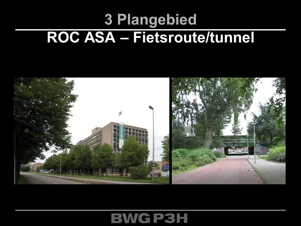 3 Plangebied ROC ASA – Fietsroute/tunnel