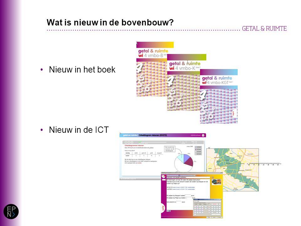 Nieuw in het boek Nieuw in de ICT Wat is nieuw in de bovenbouw?