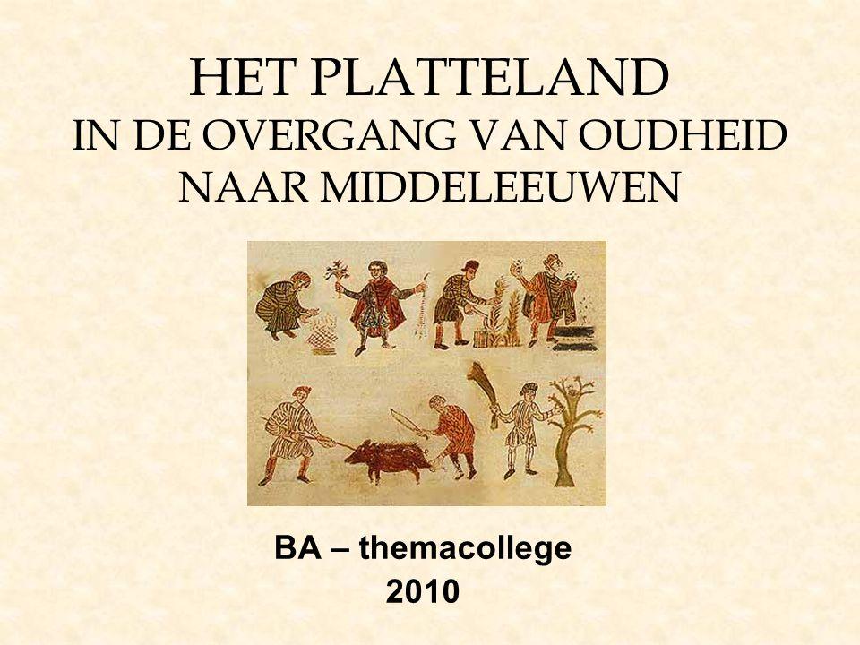 HET PLATTELAND IN DE OVERGANG VAN OUDHEID NAAR MIDDELEEUWEN BA – themacollege 2010