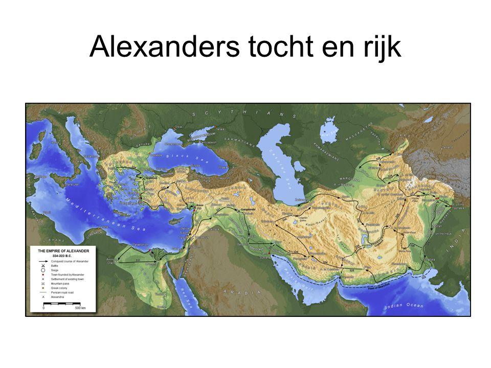 Diadochen Macedonië (Antigoniden) tot 168 vC (of 148 vC) Midden Oosten (Seleuciden) tot 63 vC Egypte (Ptolemaeën) tot 30 vC Versplintering, Kelten en Parthen Bactria en Maurya Uiteindelijk allemaal door Rome veroverd