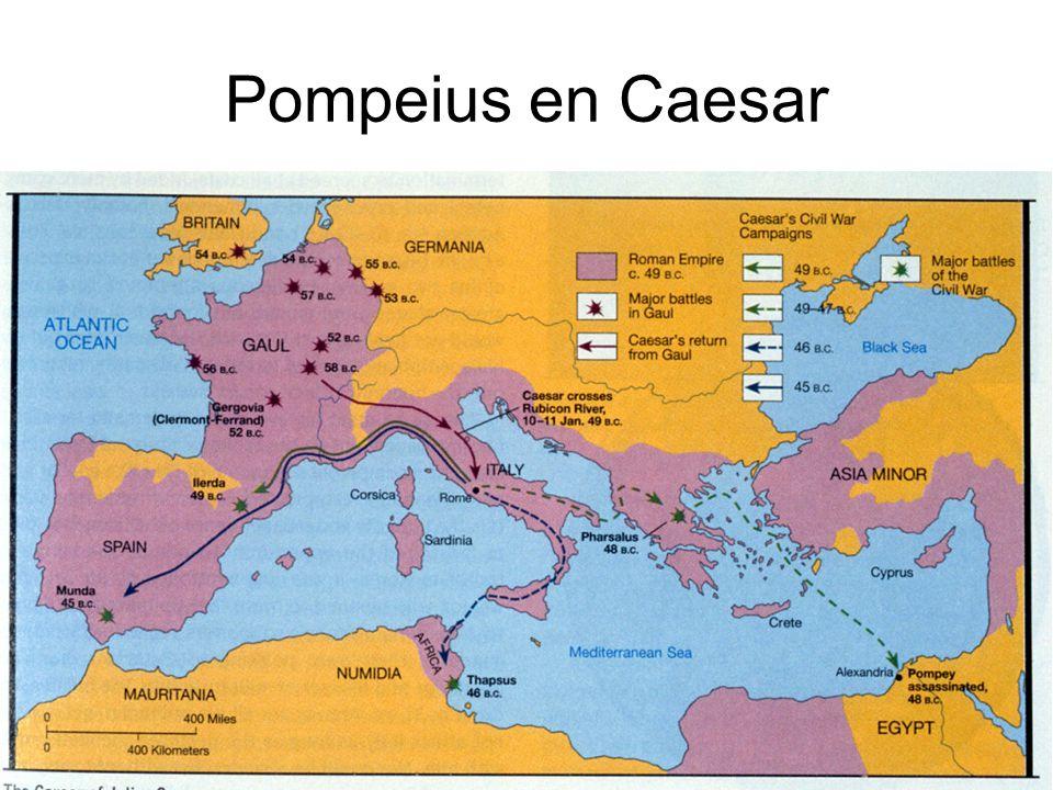 Pompeius en Caesar