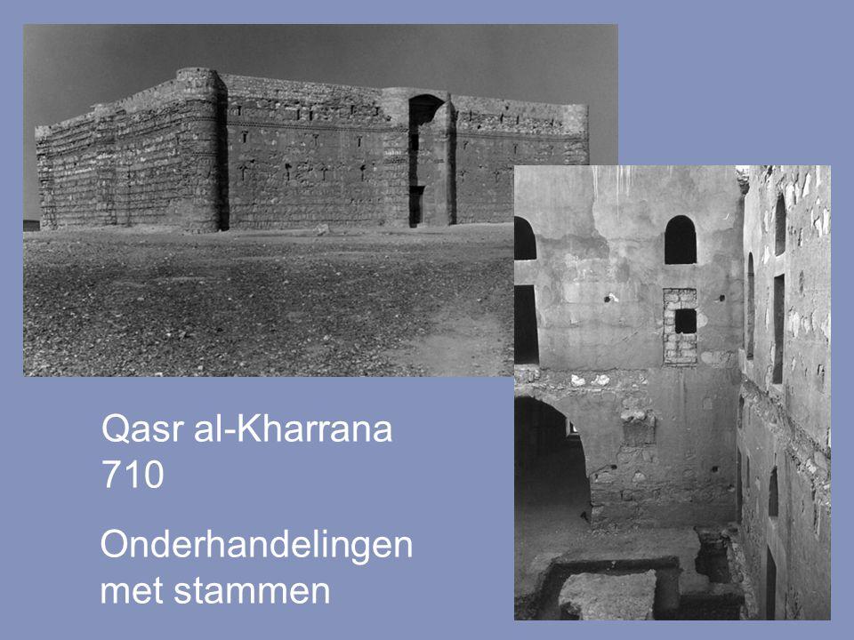 Qasr al-Kharrana 710 Onderhandelingen met stammen