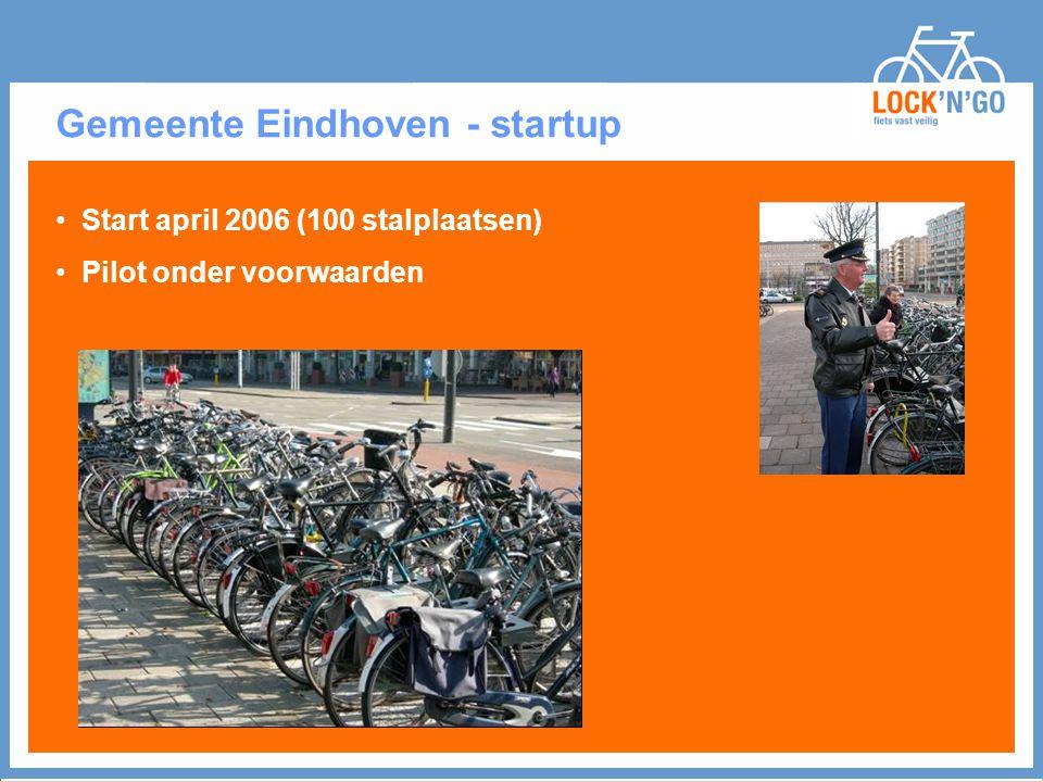 Gemeente Eindhoven - startup Start april 2006 (100 stalplaatsen) Pilot onder voorwaarden