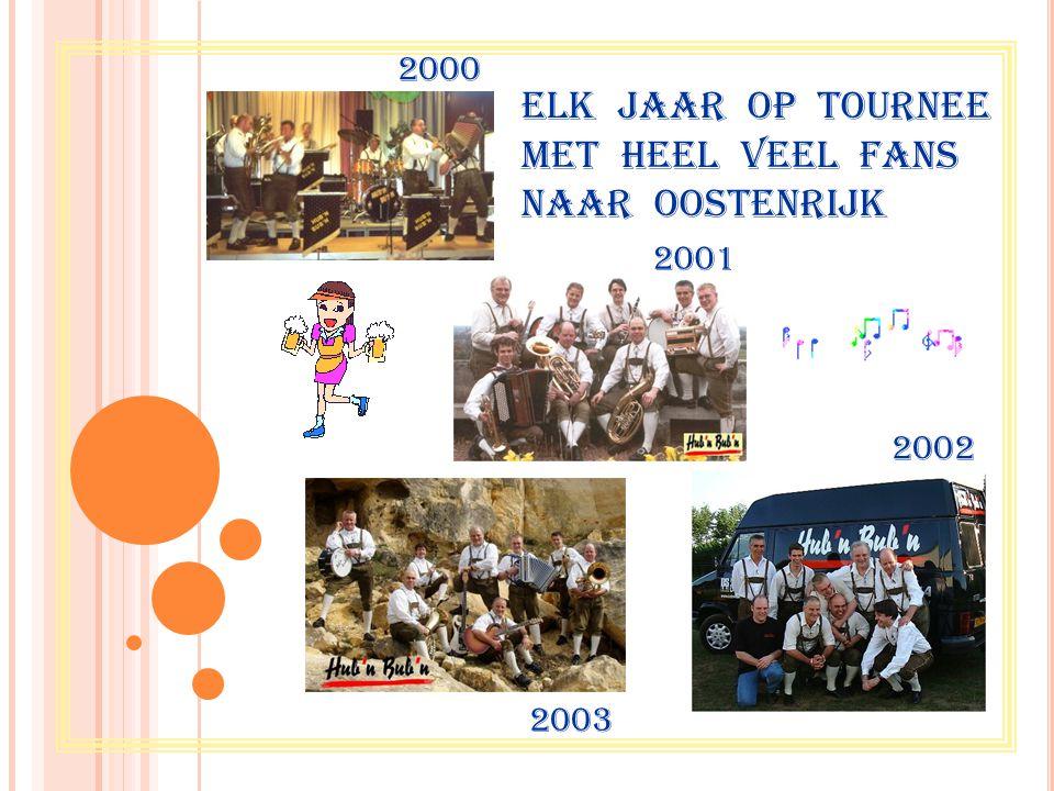 Elk jaar op tournee met heel veel fans naar OOSTENRIJK 2003 2002 2001 2000