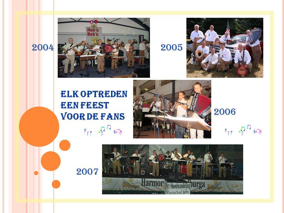 Elk optreden een feest voor de fans 20042005 2007 2006