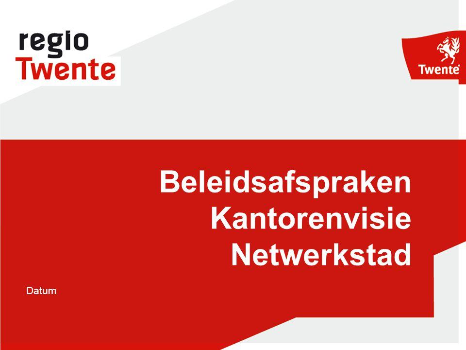 Datum Beleidsafspraken Kantorenvisie Netwerkstad En logo NT