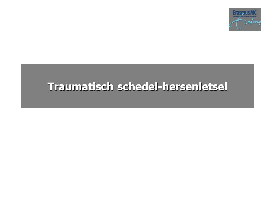 Traumatisch schedel-hersenletsel