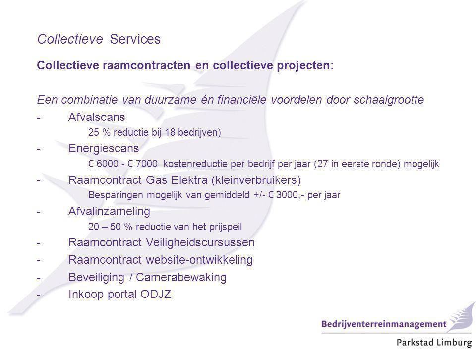 Collectieve Services Collectieve raamcontracten en collectieve projecten: Een combinatie van duurzame én financiële voordelen door schaalgrootte -Afva