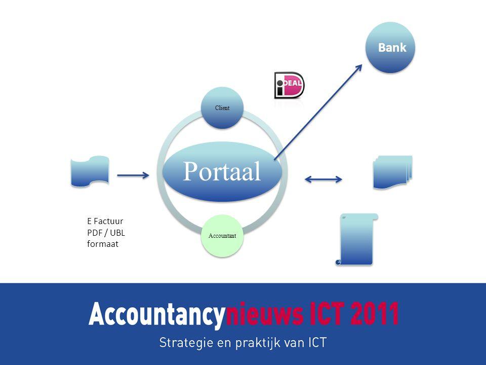 Portaal ClientAccountant E Factuur PDF / UBL formaat Bank