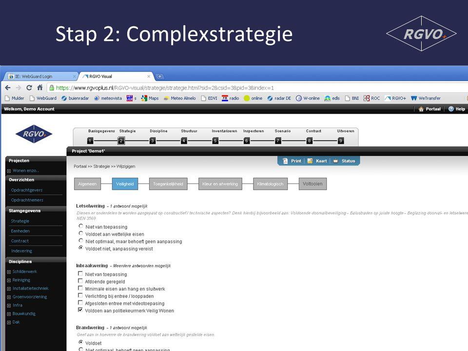 Stap 2: Complexstrategie RGVO +