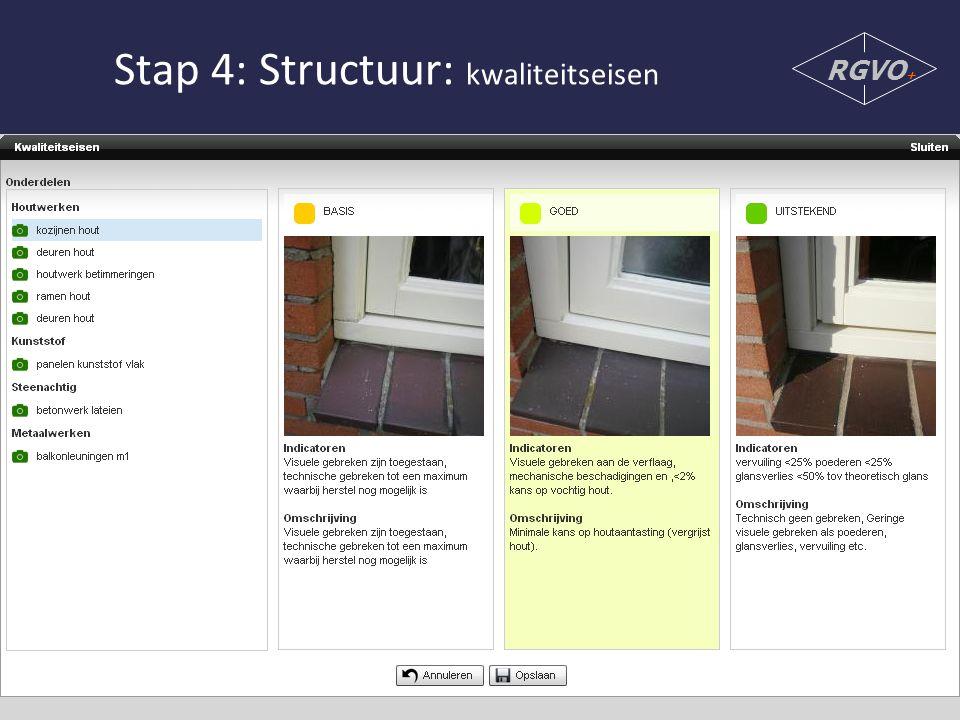 Stap 4: Structuur: kwaliteitseisen RGVO +