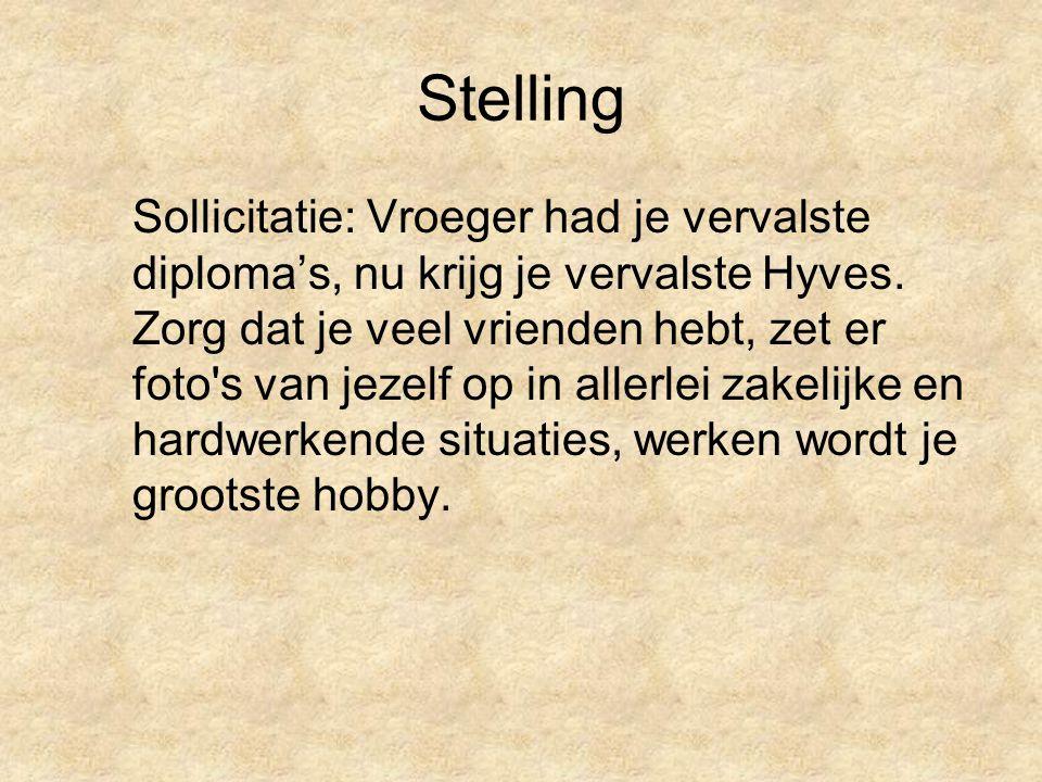 Stelling Sollicitatie: Vroeger had je vervalste diploma's, nu krijg je vervalste Hyves.