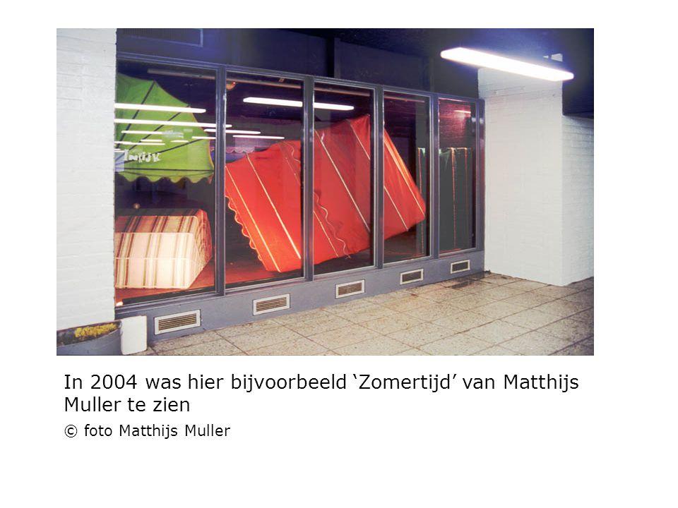 In 2004 was hier bijvoorbeeld 'Zomertijd' van Matthijs Muller te zien © foto Matthijs Muller
