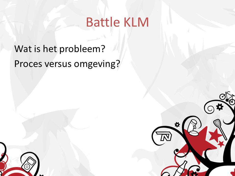 Battle KLM Wat is het probleem? Proces versus omgeving?