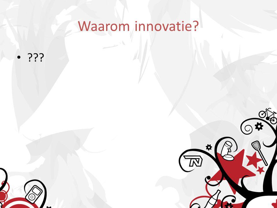 10 redenen om te innoveren 10 redenen voor innovatie verschuiving behoeften andere mogelijkheden andere regelgeving markt- liberalisatie winnaarsgevoel innovatiesucces ruimte voor eigen initiatieven andere klanten andere distributie behoud onderscheid omzet en winstgroei concurrentie klant personeel regelgeving technologie aandeelhouders