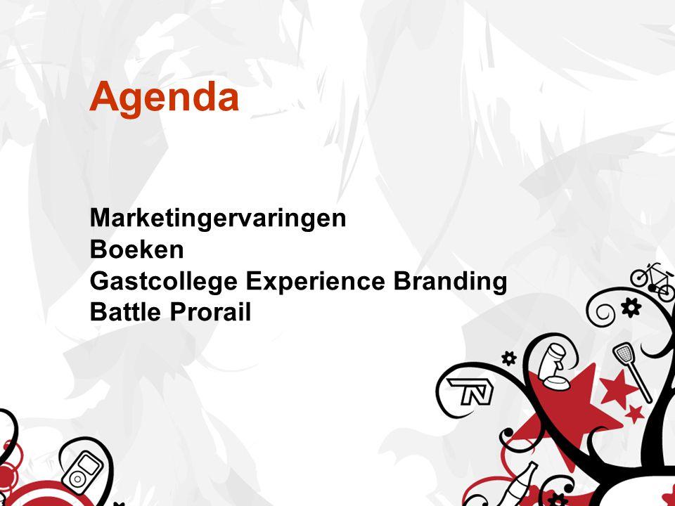 Agenda Marketingervaringen Boeken Gastcollege Experience Branding Battle Prorail
