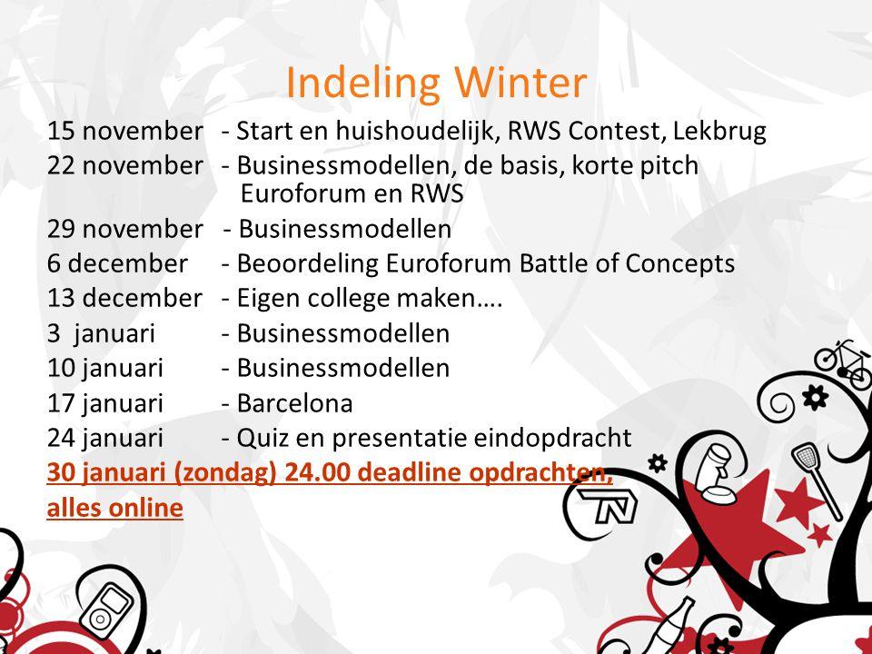 Euroforum Battle Presentaties Euroforum 10 minuten voorbereiden 5 minuten presenteren, met opmerkingen wat je anders zou hebben gedaan