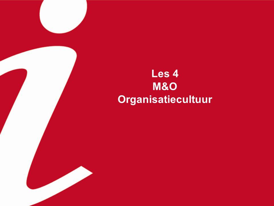 Inhoud van deze les H 10.3 Organisatiecultuur