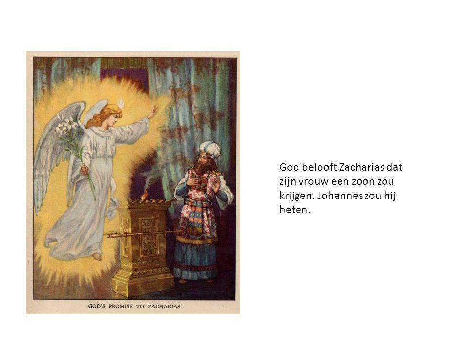 God belooft Zacharias dat zijn vrouw een zoon zou krijgen. Johannes zou hij heten.