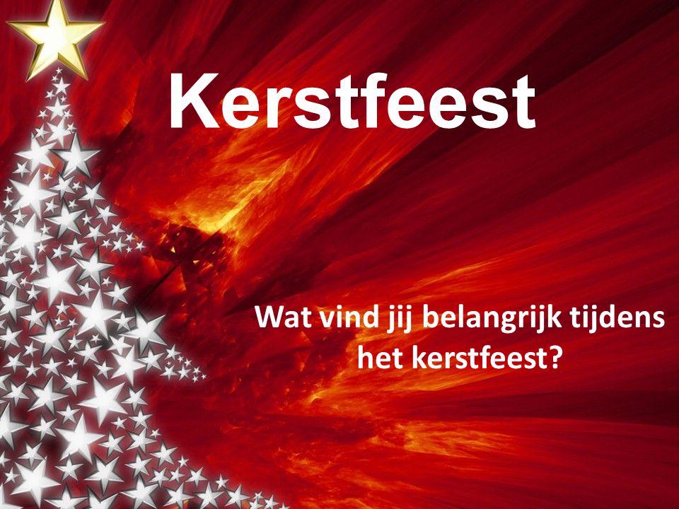 Wanneer vieren we in ons land Kerst.