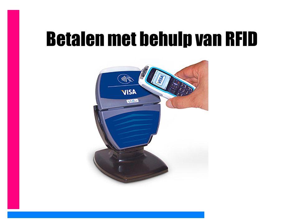 Betalen met behulp van RFID