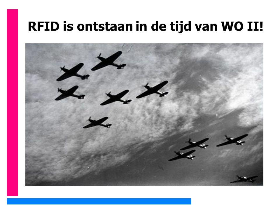 RFID is ontstaan in de tijd van WO II!