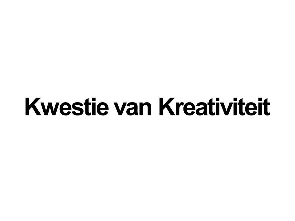 Kwestie van Kreativiteit