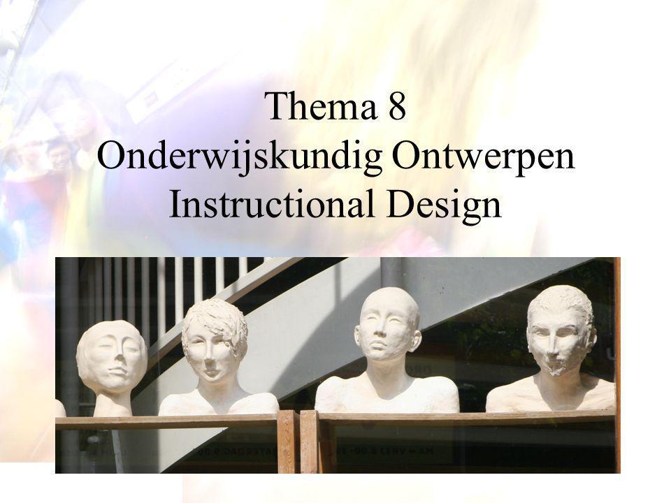 Ordening modellen  Voorbeeld:  Integrated models  Task-oriented models  Prescriptive models  Gustafson (1981) - Plomp, Feteris, Pieters & Tomic (1992): taxonomie