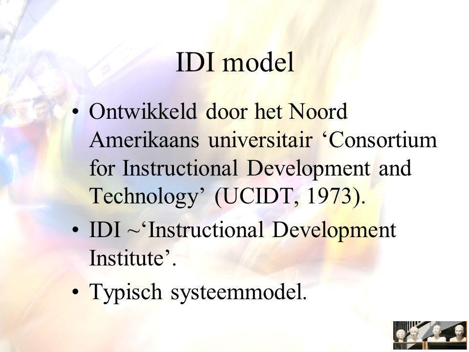 Voordelen van de ID benadering Leren en instructie verbetert door een probleemoplossende benadering waarbij veel aandacht wordt besteed aan evaluatie en terugkoppeling bij het ontwerpen.
