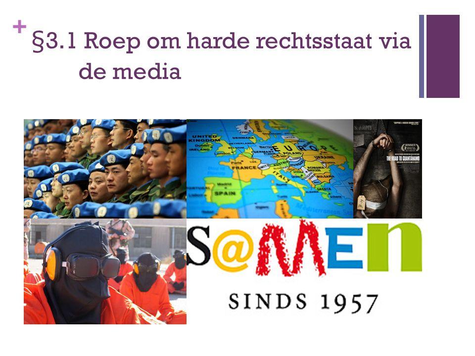 + Welke invloed hebben de media op je mening over de rechtsstaat en op het overheidsbeleid bij de bestrijding van criminaliteit.