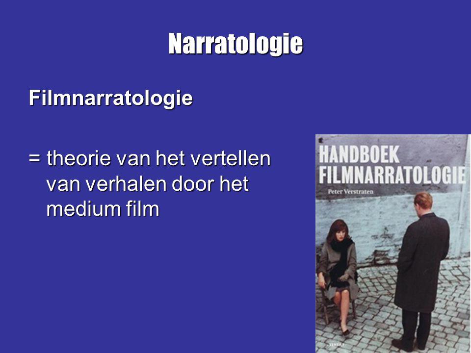Narratologie Filmnarratologie = theorie van het vertellen van verhalen door het medium film