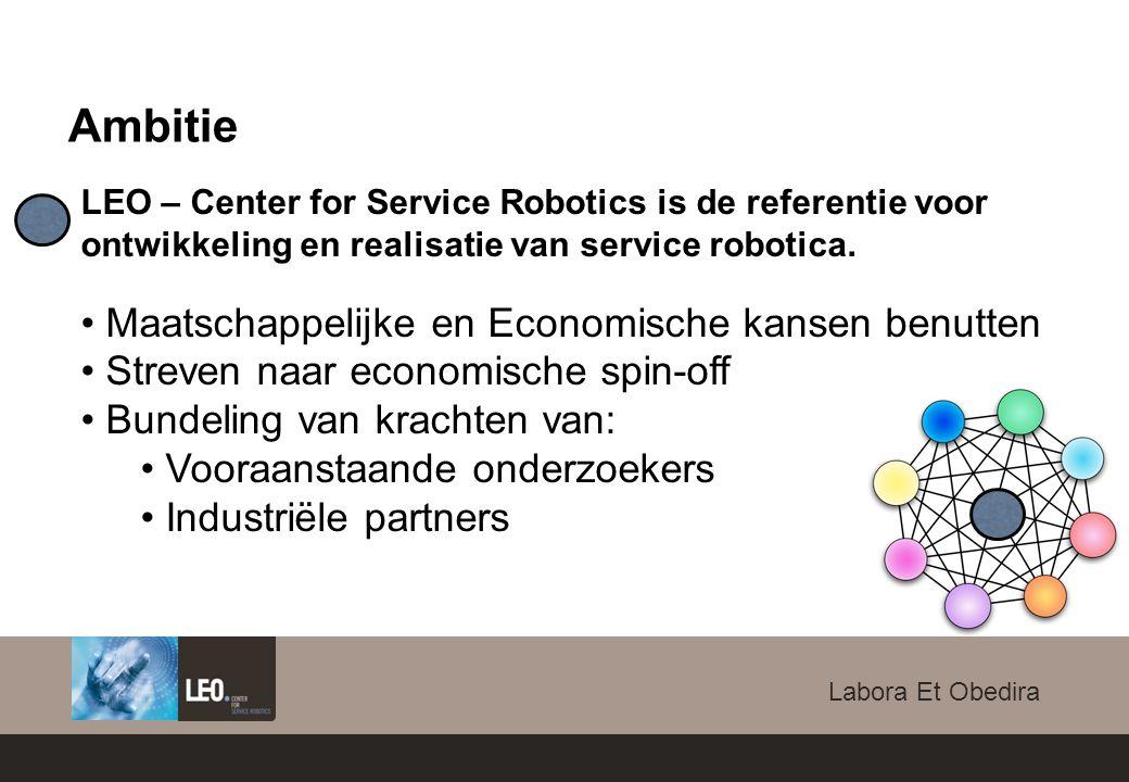 Labora Et Obedira LEO – Center for Service Robotics is de referentie voor ontwikkeling en realisatie van service robotica.
