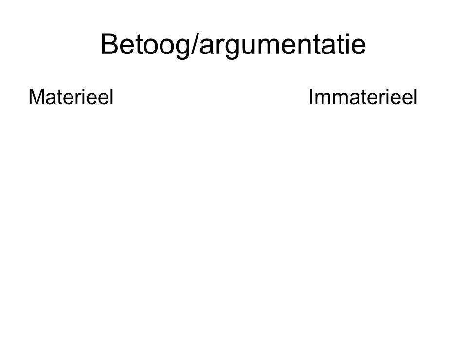 Betoog/argumentatie MaterieelImmaterieel