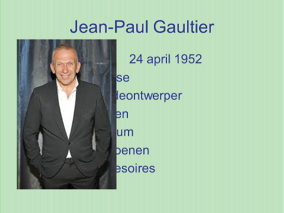 Jean-Paul Gaultier 24 april 1952 franse modeontwerper kleren parfum schoenen accesoires
