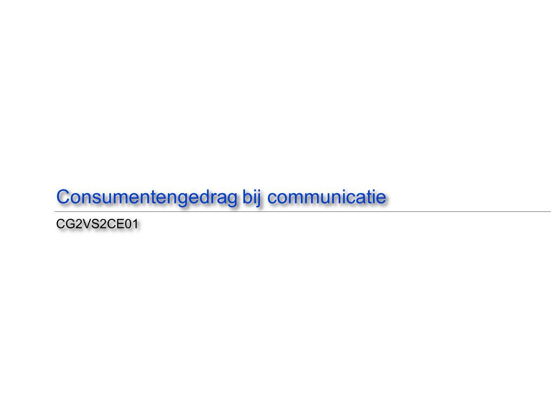 Consumentengedrag bij communicatie CG2VS2CE01