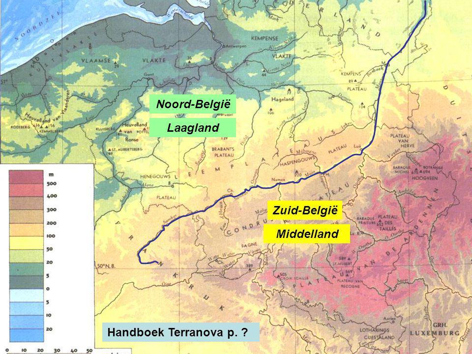 Noord-België Laagland Middelland Zuid-België