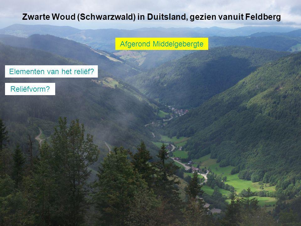 Zwarte Woud (Schwarzwald) in Duitsland, gezien vanuit Feldberg Elementen van het reliëf.