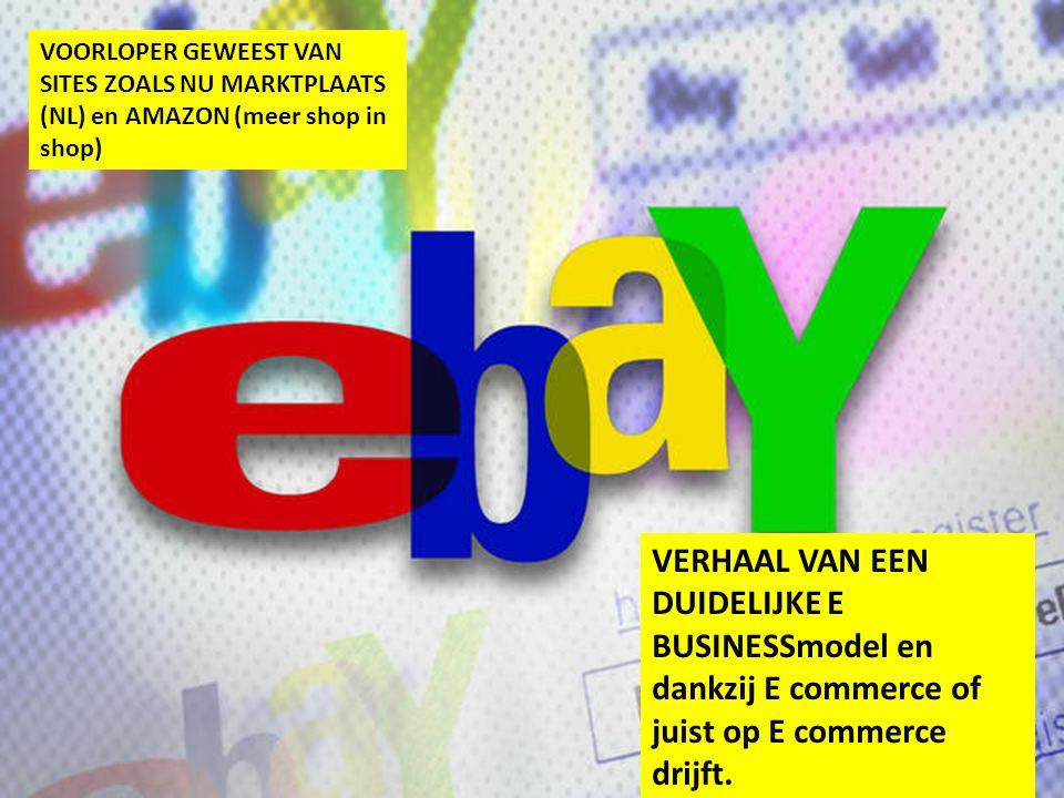 VOORLOPER GEWEEST VAN SITES ZOALS NU MARKTPLAATS (NL) en AMAZON (meer shop in shop) VERHAAL VAN EEN DUIDELIJKE E BUSINESSmodel en dankzij E commerce o