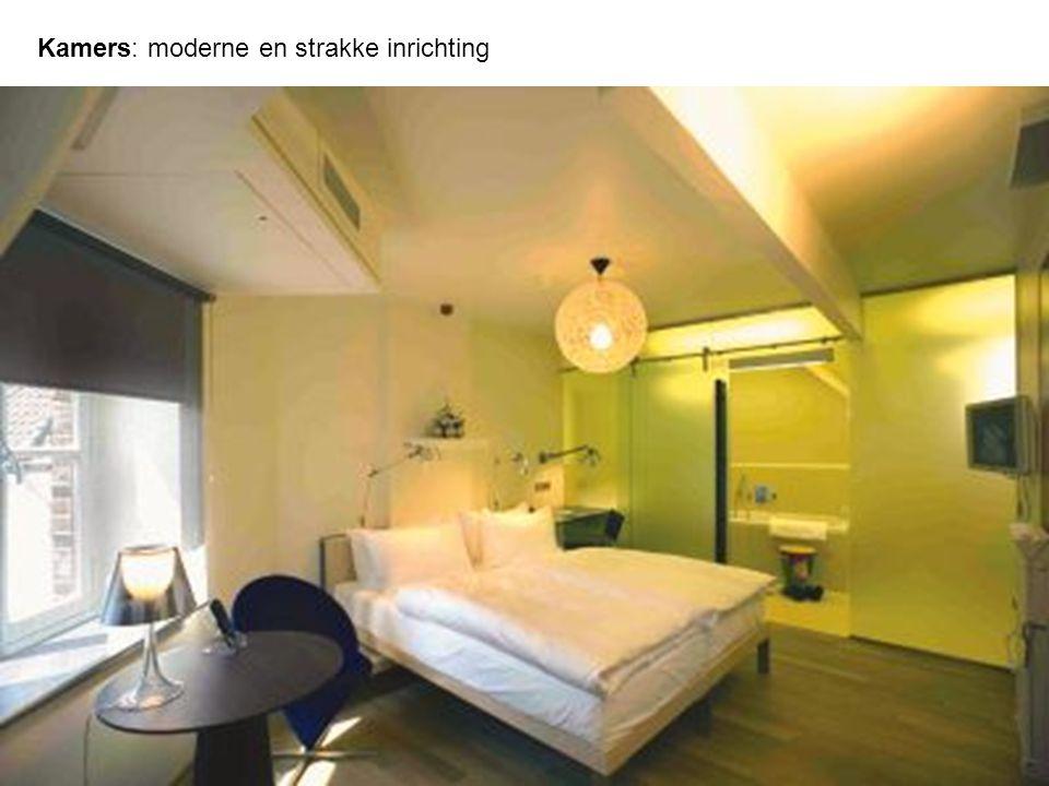 Kamers: moderne en strakke inrichting
