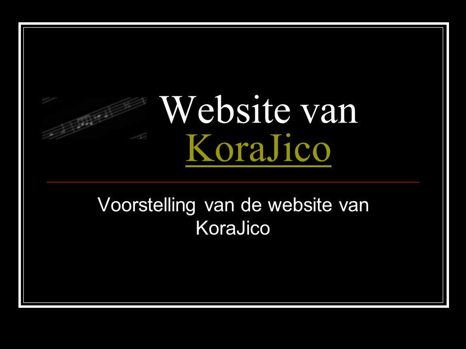 Website van KoraJico KoraJico Voorstelling van de website van KoraJico