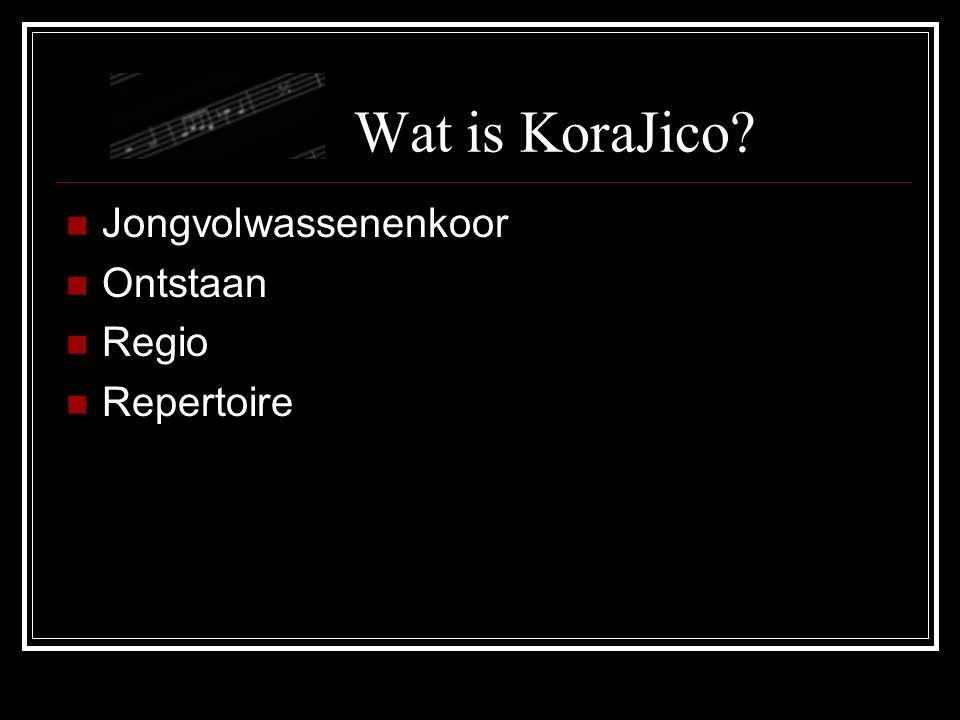 Wat is KoraJico Jongvolwassenenkoor Ontstaan Regio Repertoire
