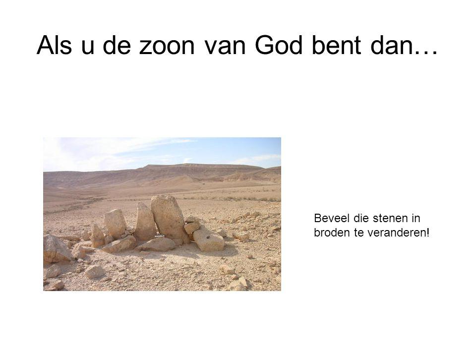 Als u de zoon van God bent dan… Beveel die stenen in broden te veranderen!