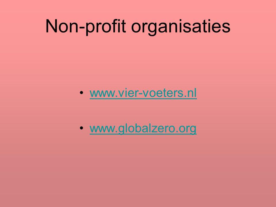 Non-profit organisaties www.vier-voeters.nl www.globalzero.org