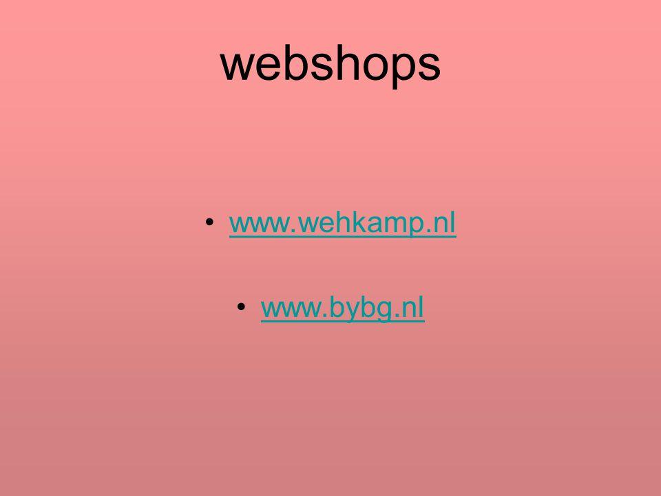 webshops www.wehkamp.nl www.bybg.nl