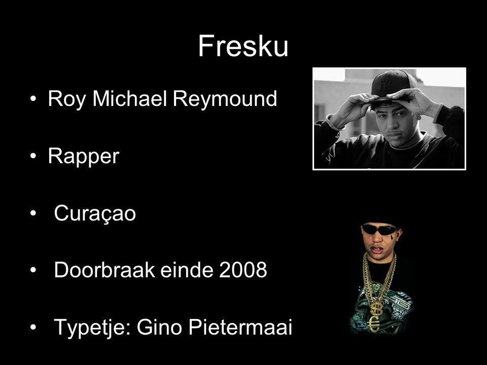 Fresku Roy Michael Reymound Rapper Curaçao Doorbraak einde 2008 Typetje: Gino Pietermaai