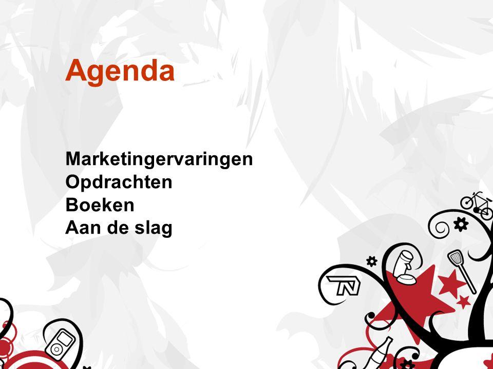 Agenda Marketingervaringen Opdrachten Boeken Aan de slag