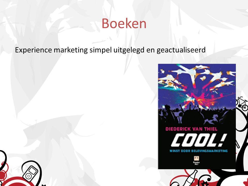 Boeken Experience marketing simpel uitgelegd en geactualiseerd