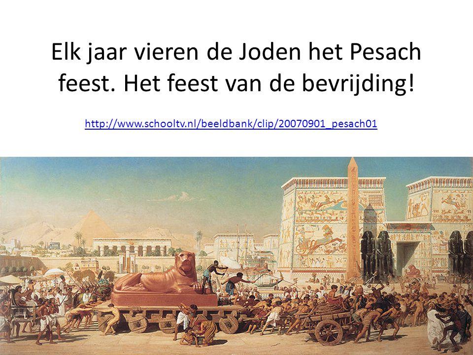 Elk jaar vieren de Joden het Pesach feest.Het feest van de bevrijding.