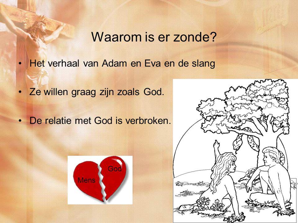 Waarom is er zonde. Het verhaal van Adam en Eva en de slang Ze willen graag zijn zoals God.