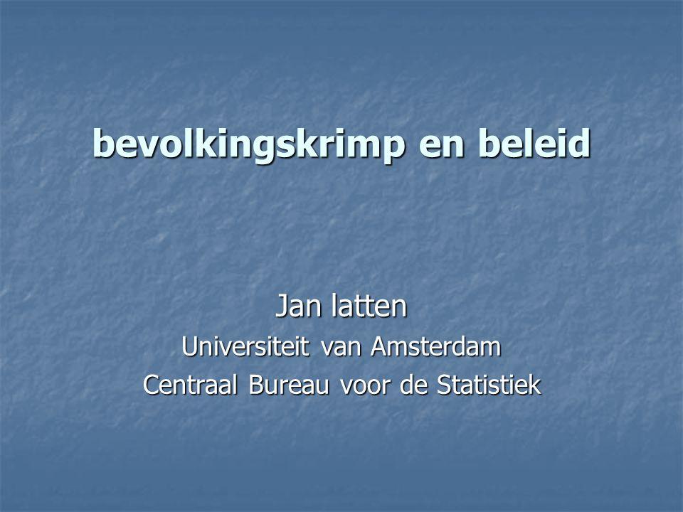 bevolkingskrimp en beleid Jan latten Universiteit van Amsterdam Centraal Bureau voor de Statistiek